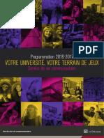 Programmation 2016-2017