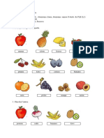 Fiche de Travail Les Fruits Cl. II l1