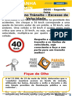 DDS Campanha de Acidentes Trânsito