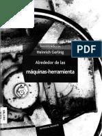 LIBRO - Alrededor de Las Máquinas Herramienta - Gerling