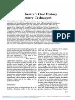 Verbatim Theatre Oral History and Documentary Techniques