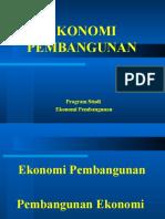 01. Ekonomi Pembangunan Dan Pembangunan-Ekonomi