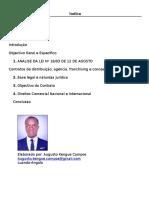 Lei n. 18-03 de 12 de Agosto - Contrato de Distruicao (Angola) Augusto Kengue Campos