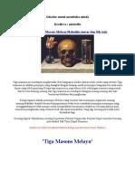 Hikayat Tiga Masons Melayu