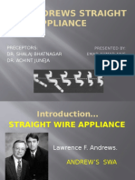Andrews Straight Wire Appliance (SWA)