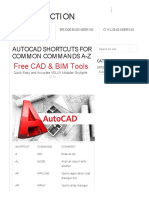 AutoCAD Shortcuts for Common Commands a-Z