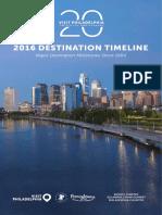Visit Philadelphia Destination Timeline 2016