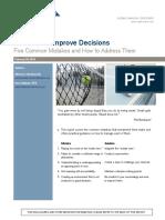 Mauboussin Methods to Improve Decision Making