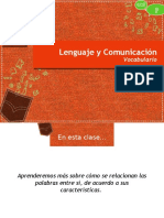 Presentación - Familia Léxica y Campo Semántico