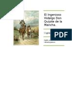 El Ingenioso Hidalgo Don Quijote de La Mancha Correccion