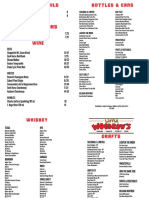 Little Woodrow's - Dallas drink menu