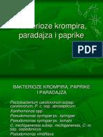 Bakterioze Krompira, Paradajza i Paprike i mere suzbijanja