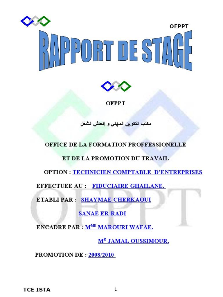 Exemple De Rapport De Stage En Comptabilité Pdf - Le ...