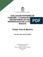 Evaluación patrones de consumo  y caudales máximos instantáneos de usuarios residenciales Bogotá 2014.pdf