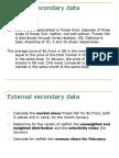 External secondary data