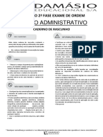 Simulado - XX Exame da OAB - 2ª Fase - Direito Administrativo