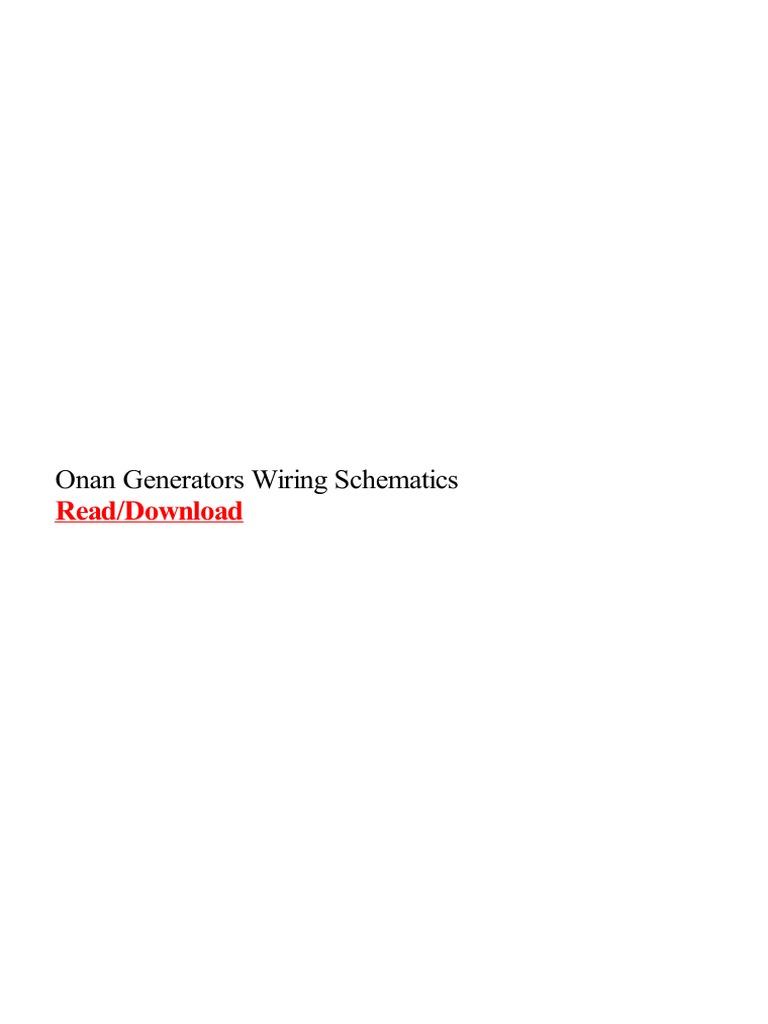 onan-generators-wiring-schematics.pdf | mins | Electric Generator on