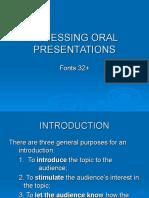 Oral Classroom Presentations