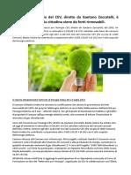 Bastia Umbra, socio del CEV, diretto da Gaetano Zoccatelli, è green