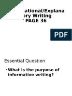 informative expos writing notes