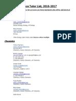 science tutor list