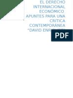 Analisis El Derecho Internacional Económico