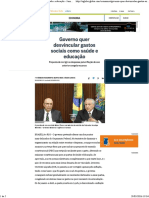 ADE-----O GLOBO - Governo Quer Desvincular Gastos Sociais Como Saúde e Educação