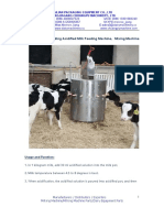 Calf Acidified Milk Feeding Machine Quotation