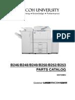 Parts catalog mp 6500