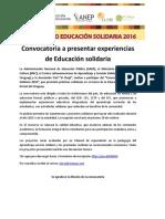 Concurso Educación Solidaria 2016