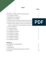 Planeacion y Desarrollo Del Informe de Investigacion