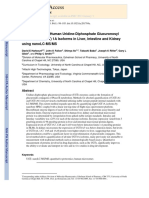 Quantification of Human Uridine-Diphosphate Glucuronosyl Transferase (UGT) 1A Isoforms in Liver, Intestine and Kidney using nanoLC-MS/MS