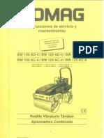 Manual Uso Rodillos Bomag BW100 BW120 BW125