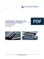 Manual FSX GrandStream
