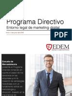 Programa Directivo Entorno Legal Marketing Digital