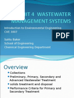 Unit 4 Wastewater Management Systems