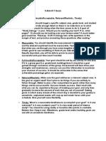 smart goals work sheet