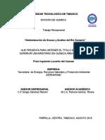 Proyecto Demanda Quimica de Oxigeno