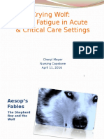 Alarm Fatigue in Acute and Critical Care Settings