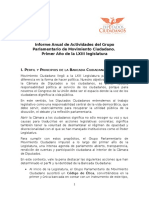 Informe Anual Primer Año Legislatura LXIII