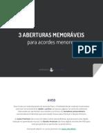 AP eBook 3 Aberturas Memoráveis Para Acordes Menores