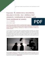 El Sonido en El Documental_ Realidad o Ficción, Vol.1