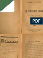 Kautsky_El Camino Del Poder