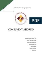 Trabajo Escrito de Consumo y Ahorro