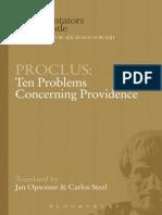 Proclus - Ten Problems Concerning Providence