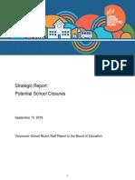 VSB Strategic Report on potential school closures