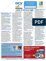 Pharmacy Daily for Wed 14 Sep 2016 - Life span at all-time high, Gollmann relaunched, APC free seminar, Health AMPERSAND Beauty and much more
