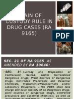 Chain of Custody Rule in Drug Cases