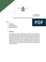 Informe-borrador Del Desarrollo de La Comisión Claustro 2015-2016. Elaborado, Septiembre Del 2016