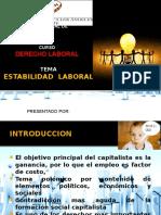 Estabilidad Laboral